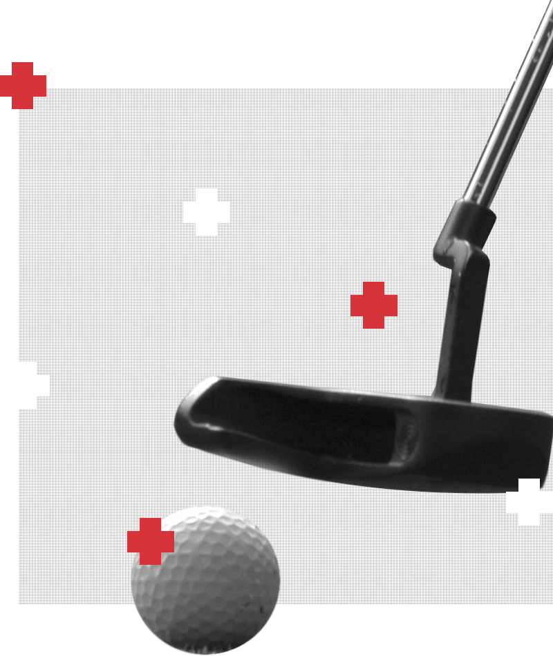 Golf club and ball graphic